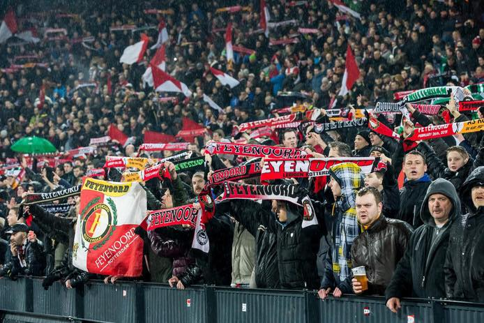 Supporters in een vak